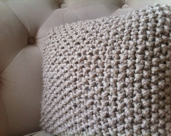 Knitted Pillow / Decorative Pillow Cover