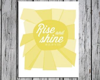 Rise and Shine -  5x7 Art Print