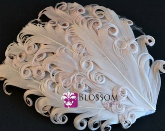 1 Curly Nagorie Feather Pad - Goose Feather Pad - Cream