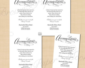 Simply Elegant Accommodations Cards (3.5x5): Text-Editable, Printable, Instant Download