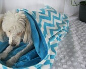 Dog Bed Snuggle Sac in Double Minky