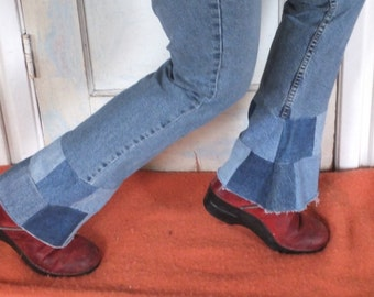 Patched Jeans Recycled, Upcycled, Reclaimed