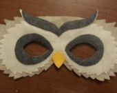 Hand Stitched Owl Mask