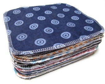 Reusable Cloth Wipes, Adult Friendly Family Cloth, 30 Neutral Mod-Mixed Set Cloth Wipes, Eco Friendly Wipes