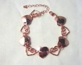 Sweet Heart Shiny Copper Bracelet