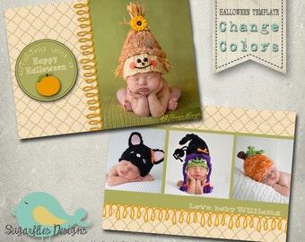Halloween Card Templates - Fall Halloween Template Boutique 7