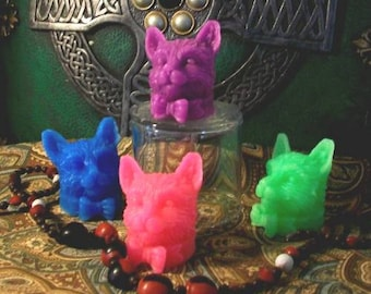 Beeswax Cat Candles Set of 3, Choice Of Color