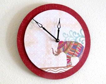 Sale, Boho Wall Clock,  Elephant Decor, Decor and Housewares,  Home and Living, Home Decor