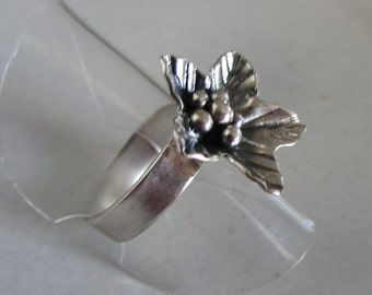 Bloom Ring - Sterling Silver flower Ring -  Gift for girlfriend