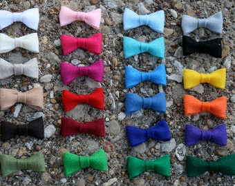 ECO-FELT BOW Headband or Hair Clip -  Choose One - You Choose the Colors