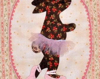 Ballerina Bunny Childrens Wall Art Print - Canvas Wrap