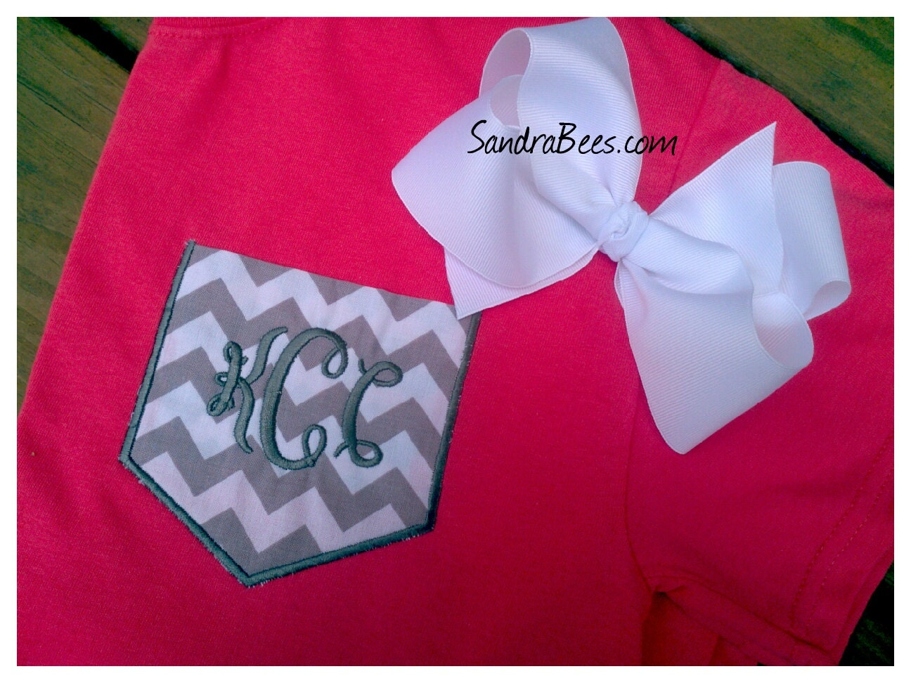 Pocket tee custom applique shirt personalized by sandrabees for Custom t shirts with pockets