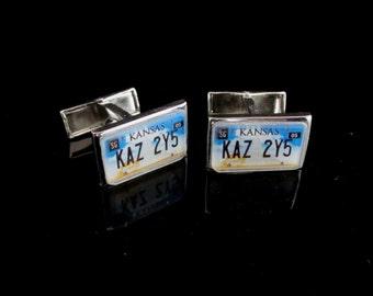 Supernatural Kansas KAZ 2Y5 License Plate Cufflinks