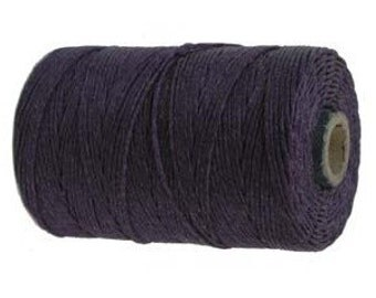 10 yards, Plum Waxed Linen, 4 ply