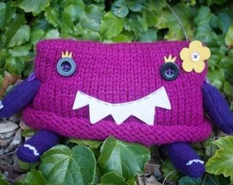 Little Miss Monster Plush in Meanie Magenta