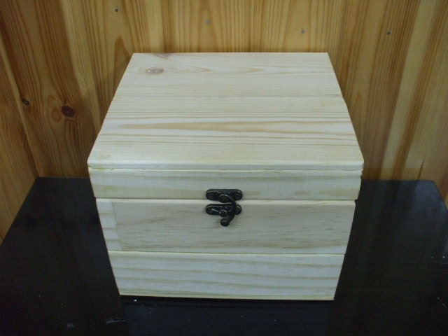 Large wooden treasure chest box, wood storage box ...  |Large Unfinished Wooden Boxes