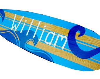 Personalized Beach Bar Mitzvah Sign with waves