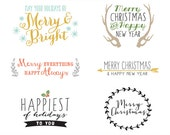 Holiday Overlays - Vector files, photoshop files, png and photoshop brushes