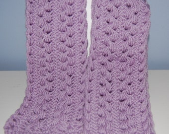Lilac Hairpin Lace Scarf