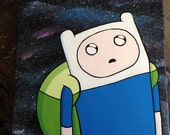 Adventure Time Painting Series: Finn the Human in Space!
