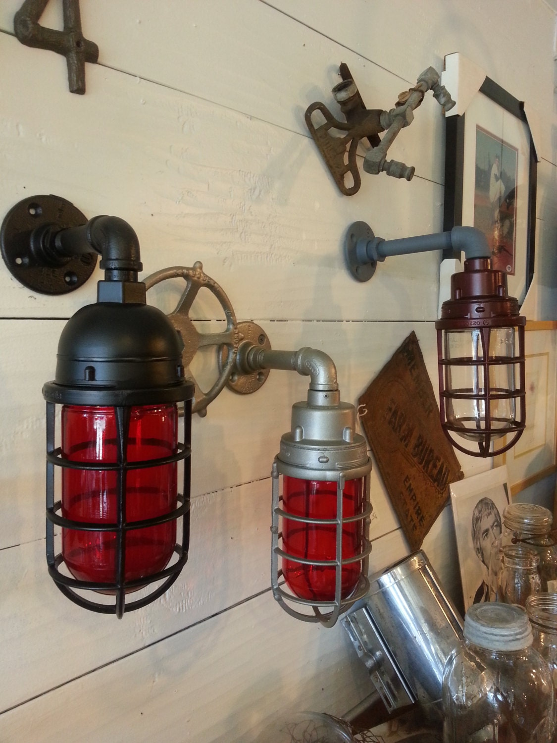 The Man Cave Store Appleton : Man cave indicator light blast proof industrial sconce
