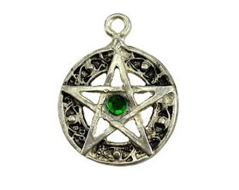 Celtic Knot Pentagram Pendant - Pewter, Pentacle, Celtic pentagram, Wiccan pagan, Witchcraft, Pentagram star, Witch amulet