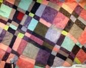 Great SALE - Felt art carpet tapestry CITY HEART - Streets and Crossroads, urban architecture, planning, multicolor geometric, fiber art