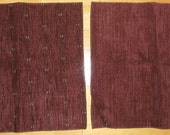 Designer Fabric Upholstery Samples 2 Pieces Burgundy Pattern and Burgundy Plain