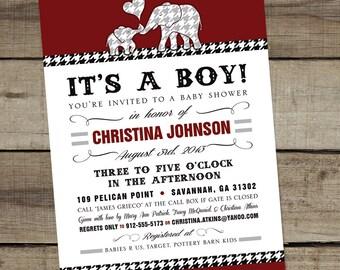 "DIY Custom Printable ""Alabama-College Themed"" Baby Shower Invitation"