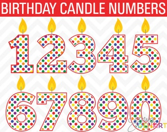 80% OFF Sale Birthday Clipart, Candle Clipart, Birthday Clip Art, Candle Clip Art, Number Clip Art, Clipart Candles, Clip Art Candles