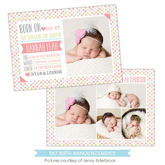 free online birth announcements templates - birth announcement template candy dots e901