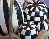 Painted Pumpkins for Halloween Decor - MEDIUM SIZE