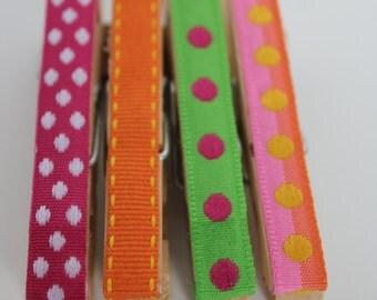 Ribbon Clothes Pin Push Pins