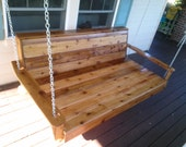 Porch Swing - Daybed Style - Patio Furniture - Wood Furniture