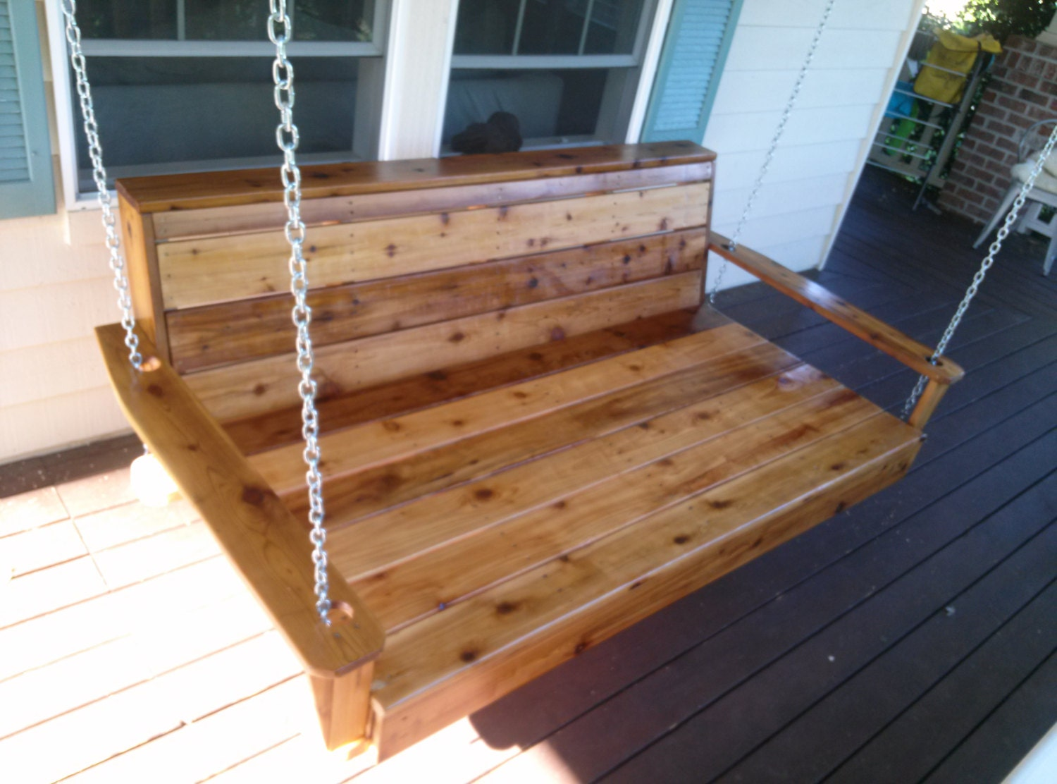 Porch Swing Daybed Style Patio Furniture Wood by SouthStorm