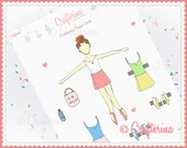 Back to Ballet School Paper Crafterina Doll PDF - Printable - Pretend - Kids Craft