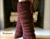 PDF PATTERN - - Knitarelli Knit Leg Warmers - - Great handmade gift to make for dancers