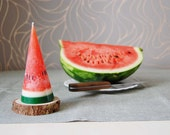 Watermelon Candle - Hand Painted Cone Candle - Funny Fruit Candle - Party Kids Birthday Candle - Funny Watermelon Home Gift
