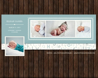 INSTANT DownloadBirth Announcement Facebook Timeline Cover - FB13
