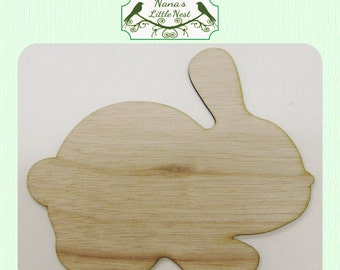 Bunny / Rabbit (Medium)  Wood Cut Out - Laser Cut - Great for Easter