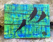 "Original Painting ""Birds On Wires"""