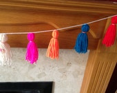 Wool Tassel Garland Made To Order 1 Metre Supplied Choose Your Own Colours
