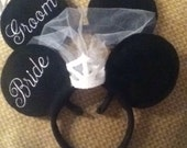 Disney Bride And Groom Mickey/Minnie  Mouse Inspired Honeymoon Ears