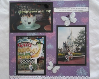 Custom 12 x 12 Scrapbook Album, 12 x 12 Premade Photo Album by Island Lilly Designs