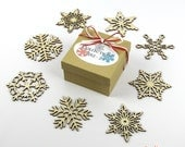 60% OFF CLEARANCE! 2012 Collection 2 - Wooden Laser-Cut Holiday Snowflake Ornaments - 3 Inch Diameter - Set of 8 in Gift Box