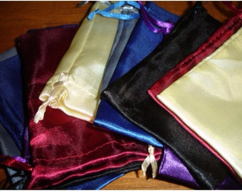 Gift Wrap Option Satin Gift Bag with Drawstring Pouch