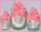 Birthday Cake Luxury Soy Cupcake Candle