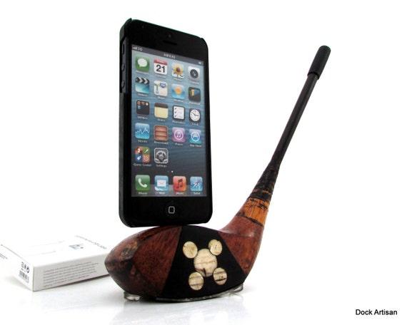 Vintage Wooden Golf Club iPhone 5/s Dock