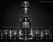 Engraved Crystal Decanter Set  - Personaslized Groomsmen Gifts