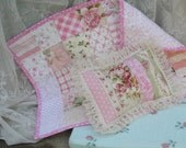 Reserved Doll Bedding Patchwork Quilt, Pillow  and Covered Mattress